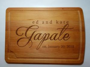 Personalized Engraving on Cutting Boards
