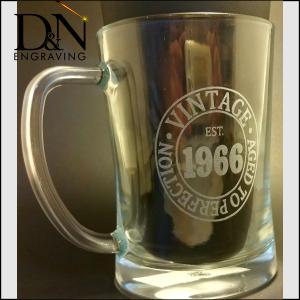 Beer Glass Engraving