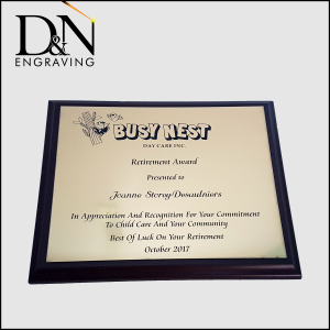 Personalized Plaque
