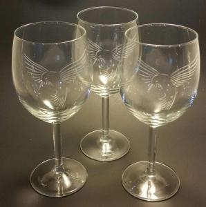 Wine glasses engraving