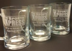 Beer glasses engraving