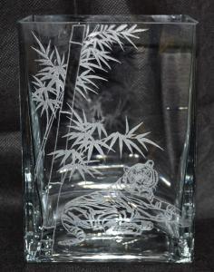 Vase engraving