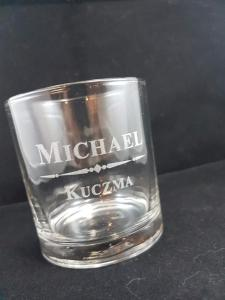 Whiskey glass engraving