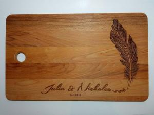 Bridal Gift - Cutting Board Engraving